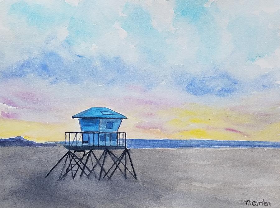 Ventura Beach Sunset by M Carlen