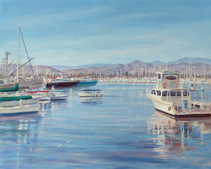 Ventura Harbor Painting - Ventura Harbor II by Tina Obrien