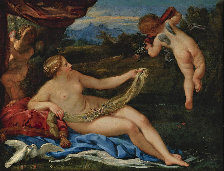 Carlo Maratta Painting - Venus And Cupid by Carlo Maratta