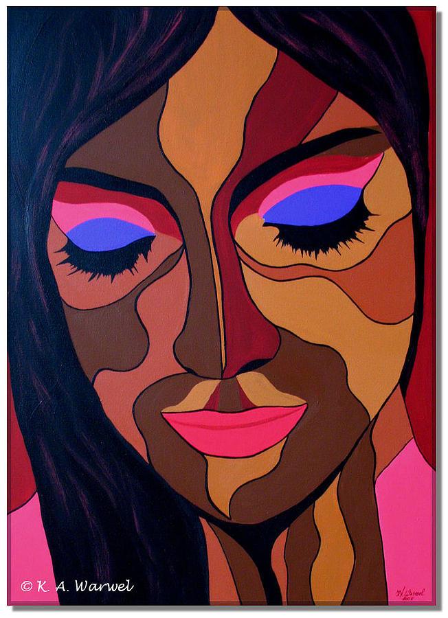 Woman Painting - Venus by Klaudia Warwel
