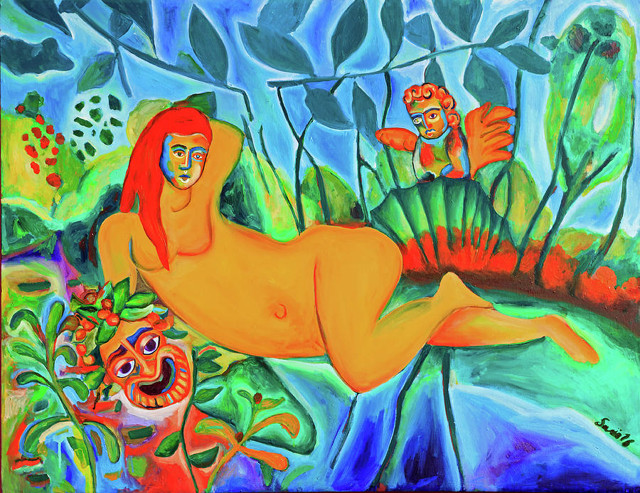 Nature Painting - Venus Pumpeie by Sario