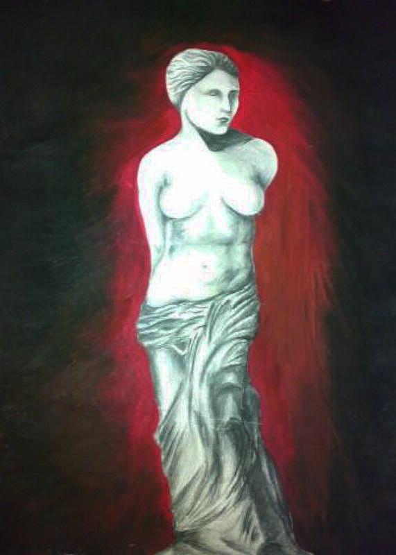 Water Painting - Venus by Tamer Elsamahy