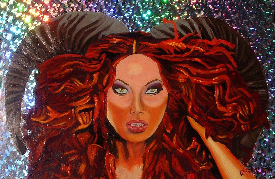 Devil Woman Painting - Venustas Diabolus by John Paul Blanchette