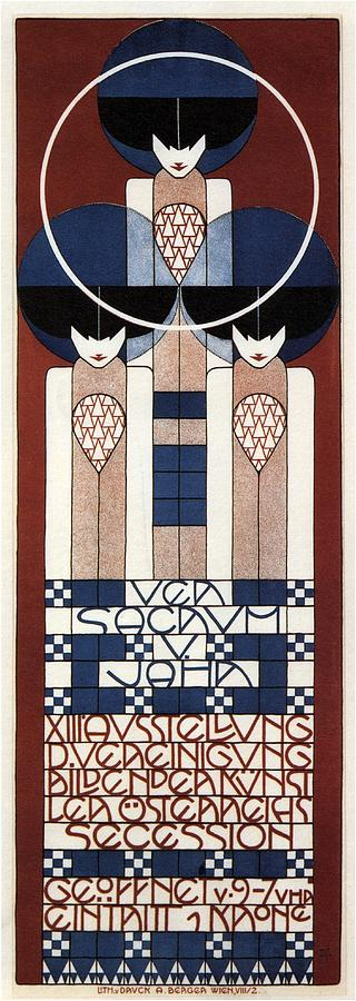 Ver Sacrum V. Jahr - Xiii Ausstellung Der Vereinigung - Austrian Secession - Vintage Poster Mixed Media