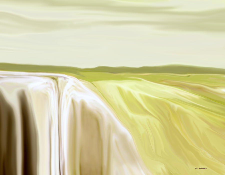 Abstract Painting - Verdant Cliffs by Tim Stringer