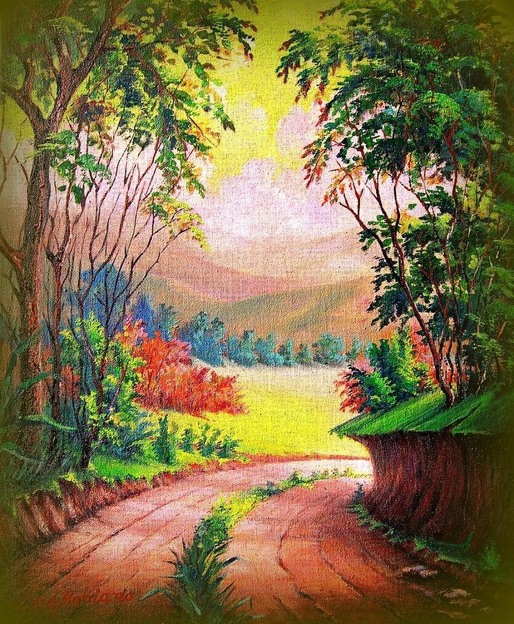 Landscape Painting - Verde Que Te Quero Verde by Leomariano artist BRASIL