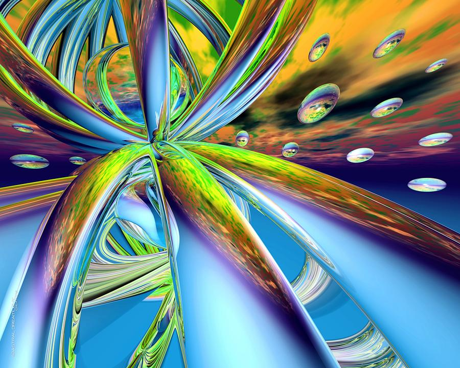 Abstract Digital Art - Verge by Dreamlight  Creations