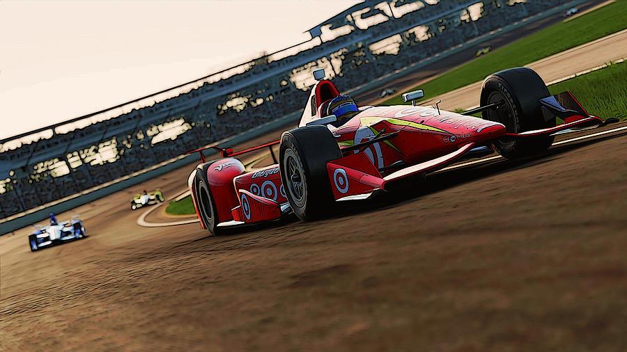Verizon Indycar Series Painting - Verizon Indycar Series - 2 by Andrea Mazzocchetti