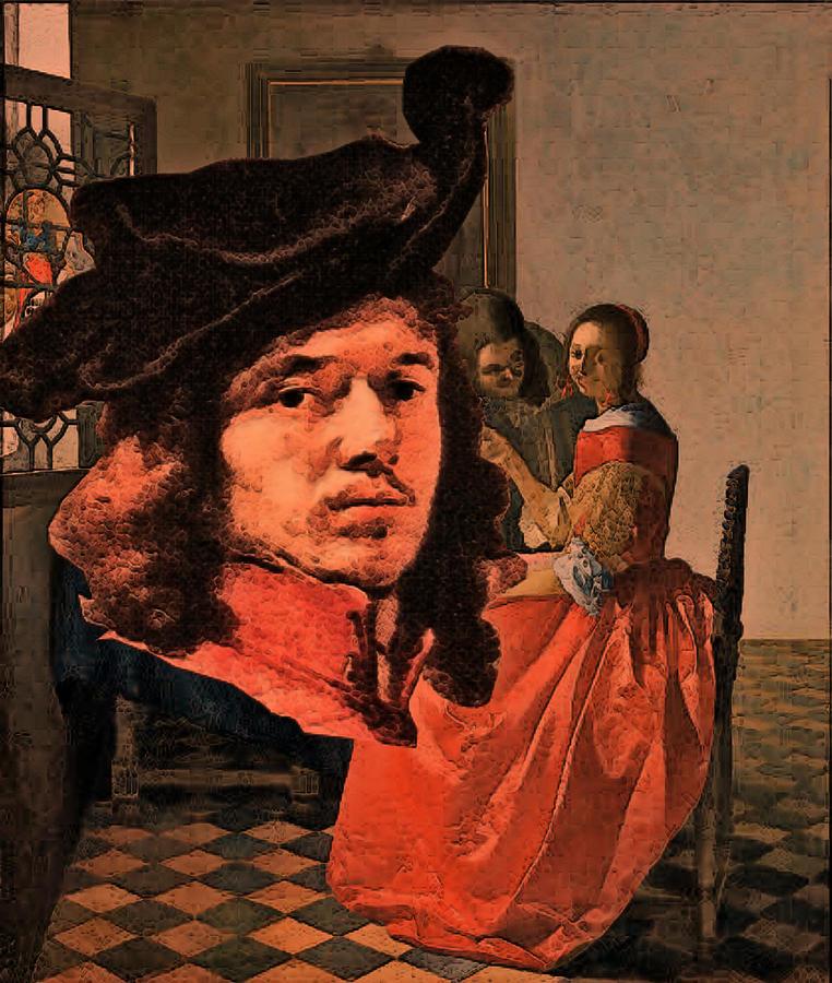 Vermeer Study in Orange by Tristan Armstrong