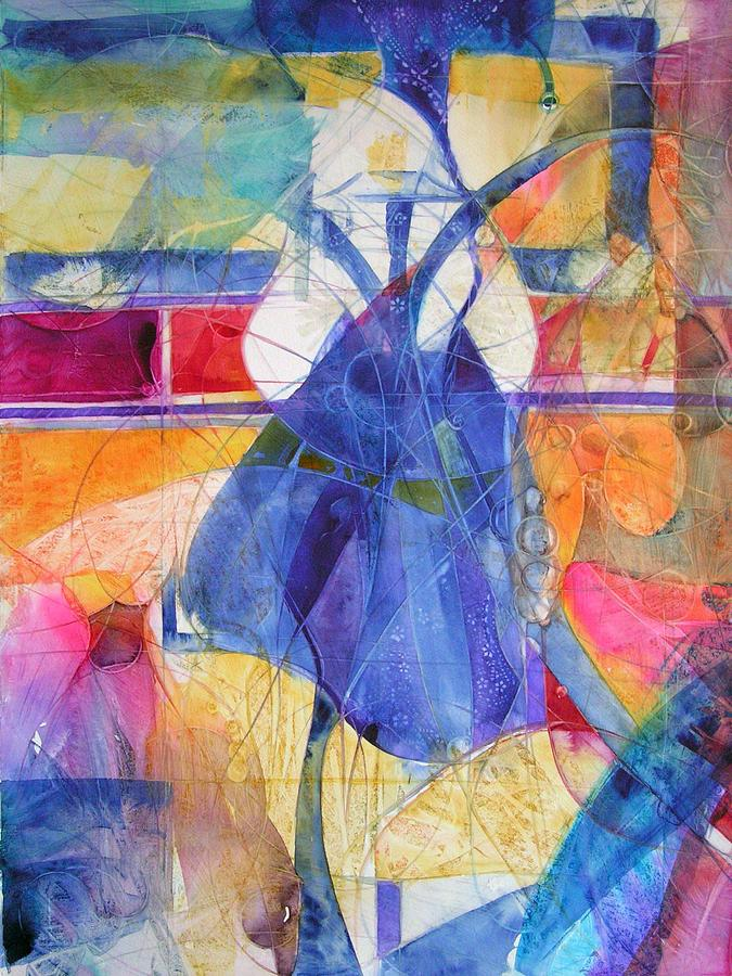 Abstracted Painting - Vermeer Was Here by Annika Farmer