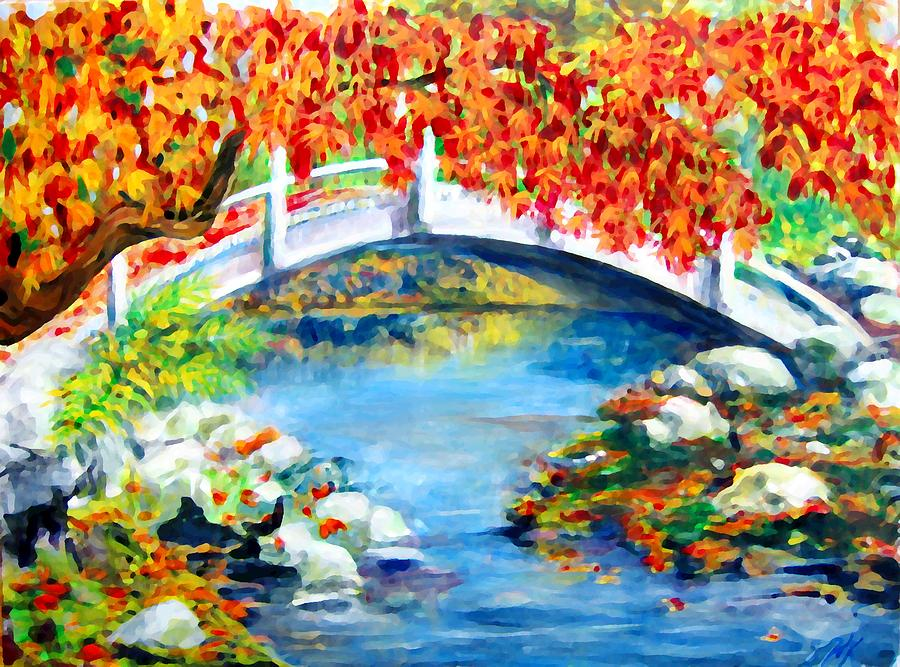 Painting Photograph - Vermont Bridge by Lyn Vic