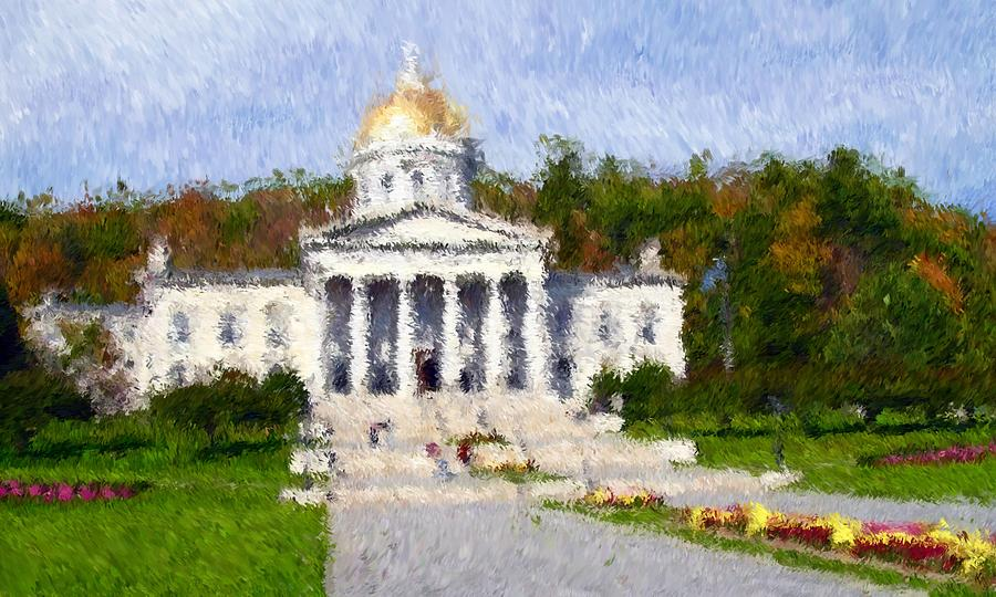 Scenery Photograph - Vermont Capital by Ralph Liebstein
