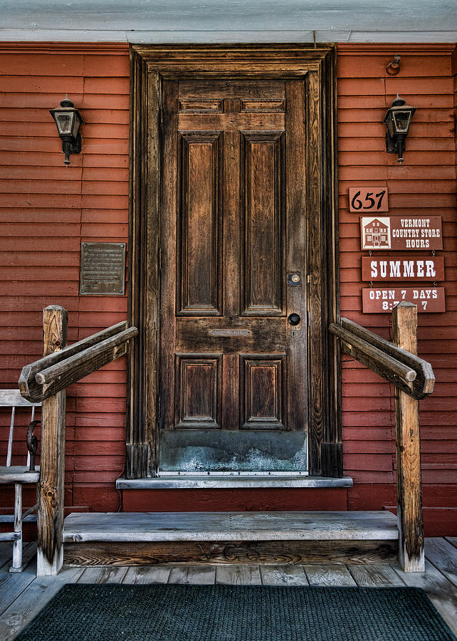 Vermont Country Store Door Photograph By Stephen Stookey