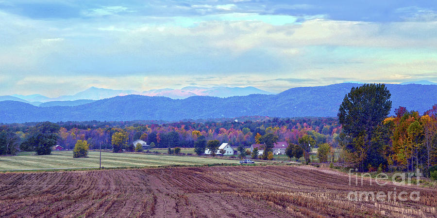 Vermont Photograph - Vermont Countryside In Autumn by Catherine Sherman