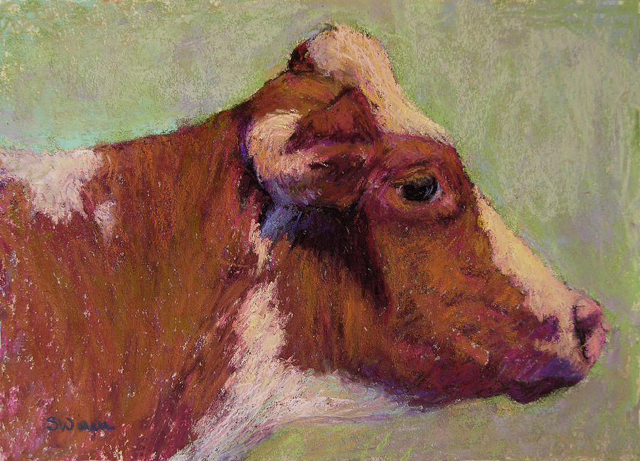 Farm Animals Painting - Vermont Red And White by Susan Williamson