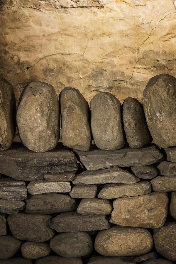 Stone Trust Photograph - Vermont Rock Wall by Tom Singleton