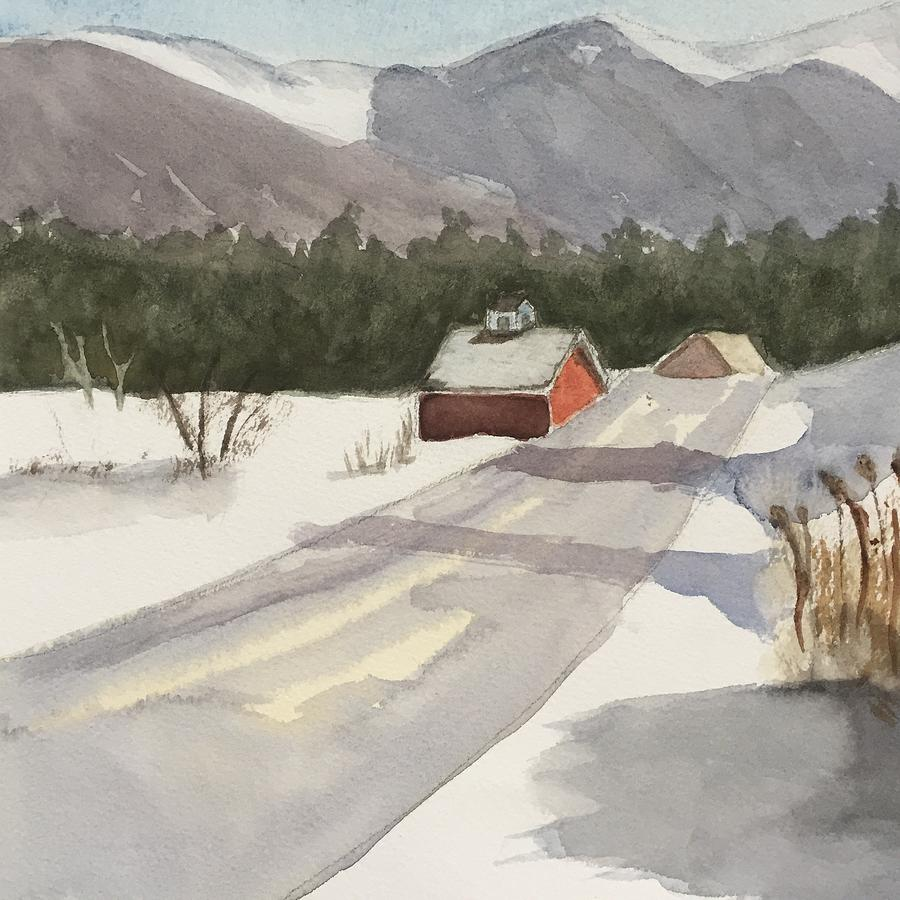 Vermont Snow Painting by Peggy Poppe