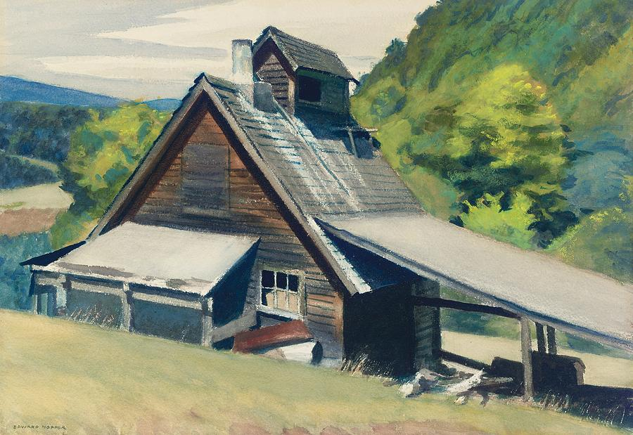 Vermont Sugar House Painting - Vermont Sugar House by Edward Hopper