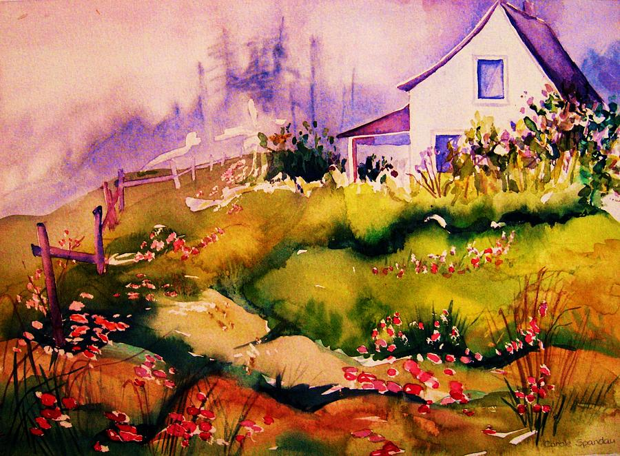 Homesteads Painting - Vermont Summers by Carole Spandau