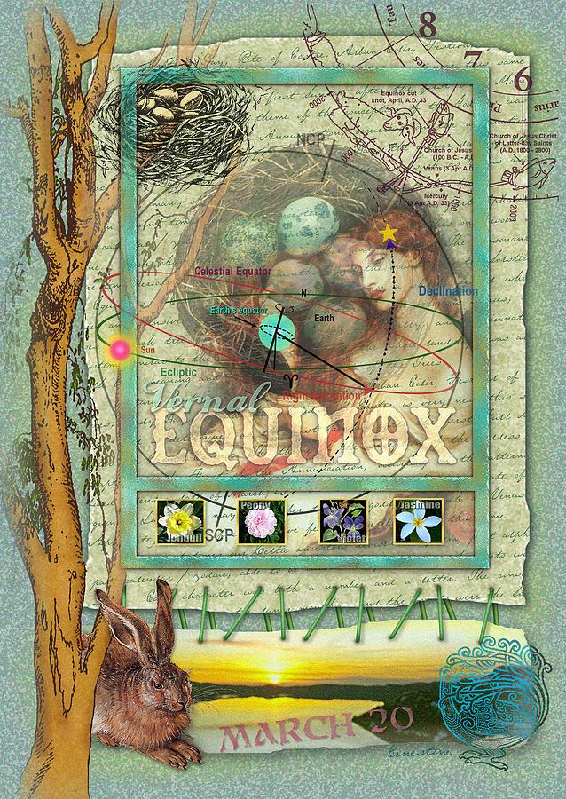 Vernal Equinox Digital Art - Vernal Equinox by Ernestine Grindal