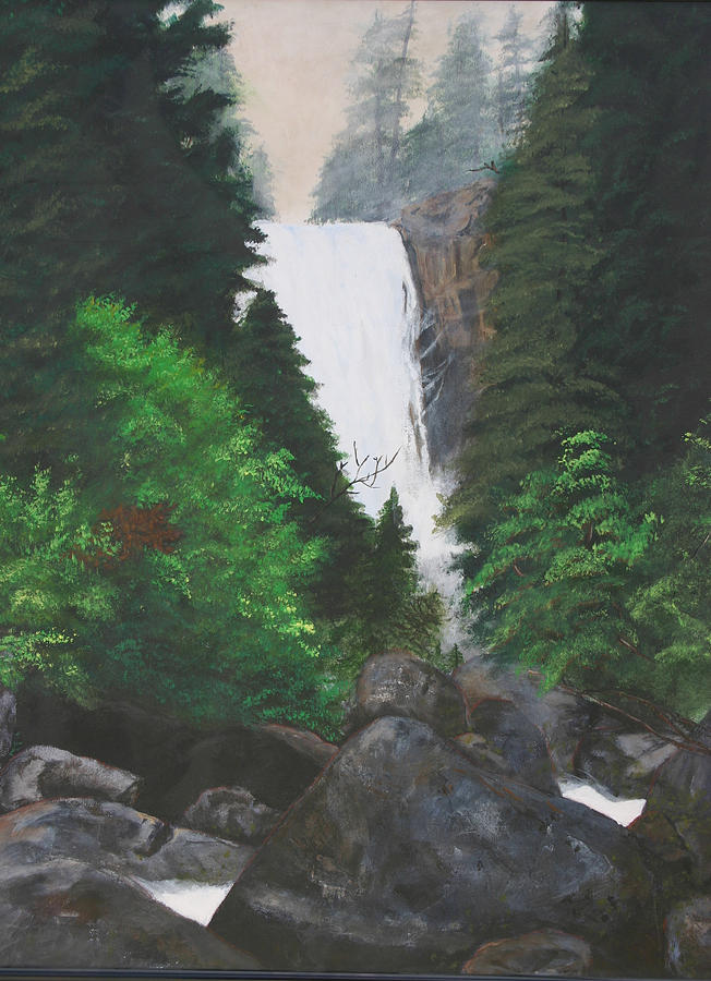 Landscape Painting - Vernal Falls by Travis Day