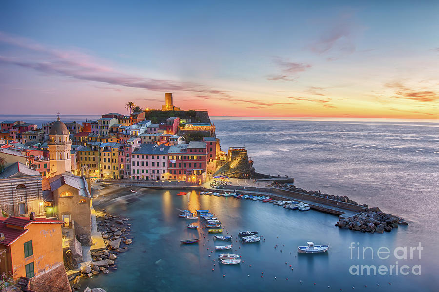 Vernazza at Sunset by Jennifer Ludlum