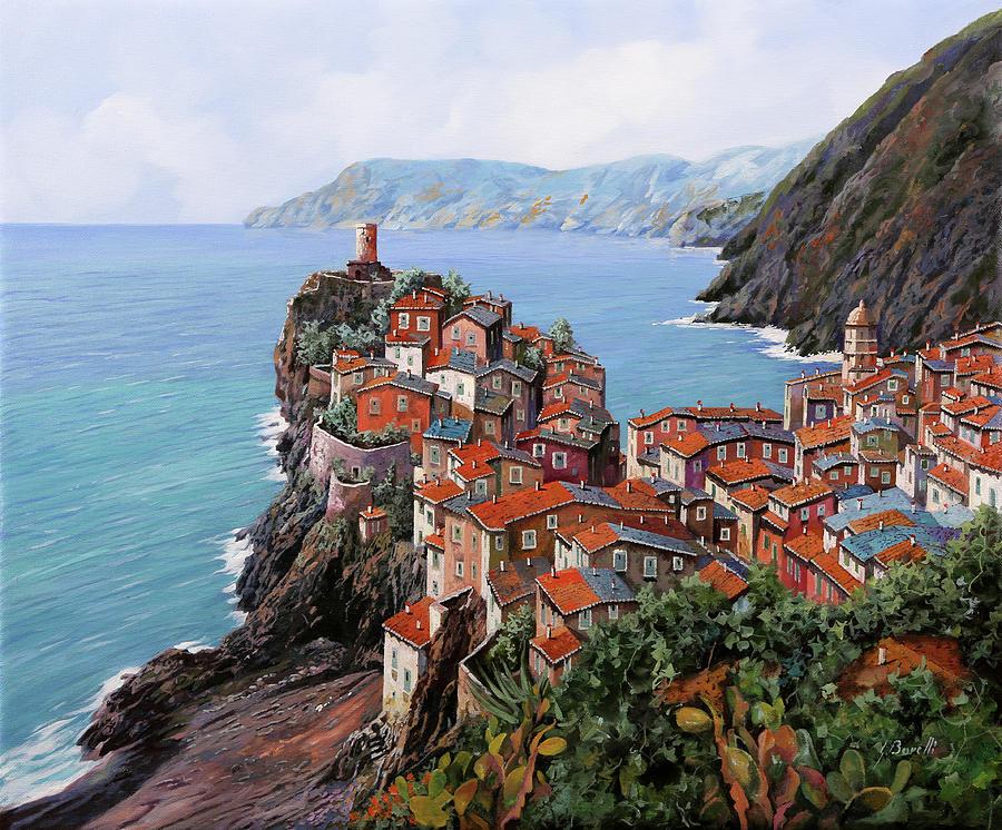 Vernazza Painting - pomeriggio a Bellagio anzi a Vernazza by Guido Borelli