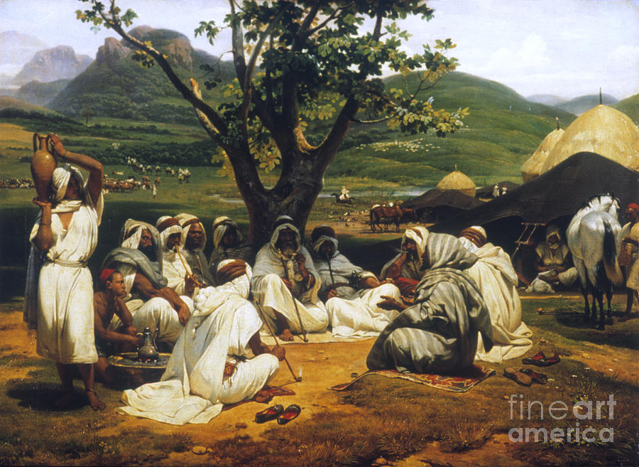 1833 Photograph - Vernet: Arab Tale-teller by Granger