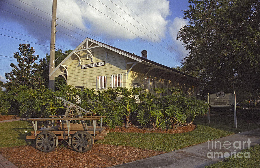 Vero Beach Florida Photograph - Vero Beach Railroad Station by Richard Nickson