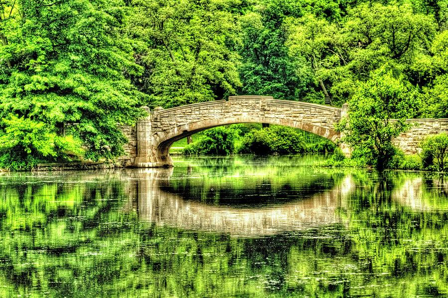 Verona Park Bridge In Spring Photograph