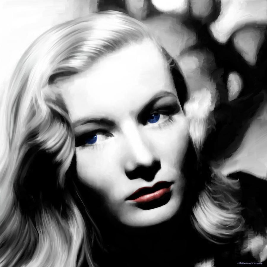 Veronica Lake Mixed Media - Veronica Lake Portrait #1 by Gabriel T Toro