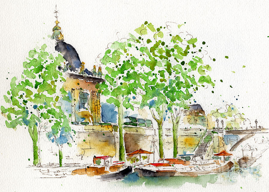 Paris Painting - Vers Pont Des Artes by Pat Katz