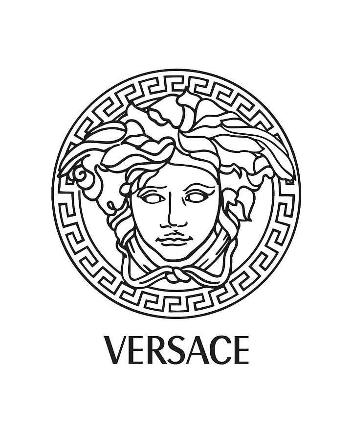 Versace Digital Art - Versace - Black And White 02 - Lifestyle And Fashion by TUSCAN Afternoon