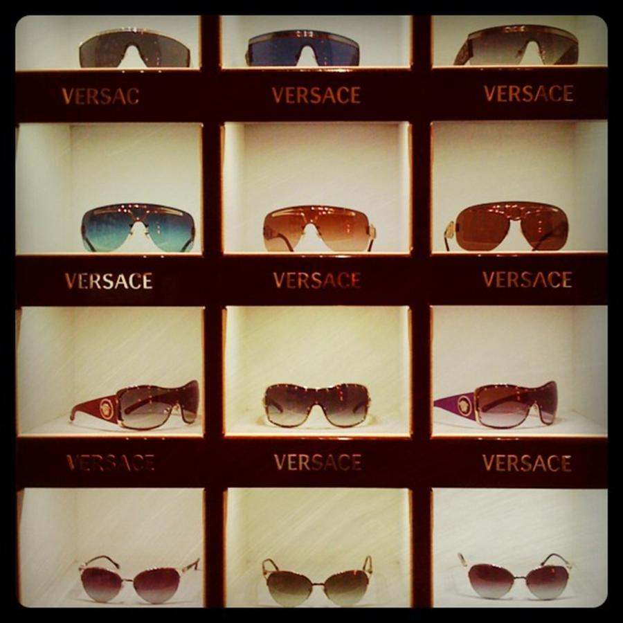 Versace Glasses Photograph by Juan Silva