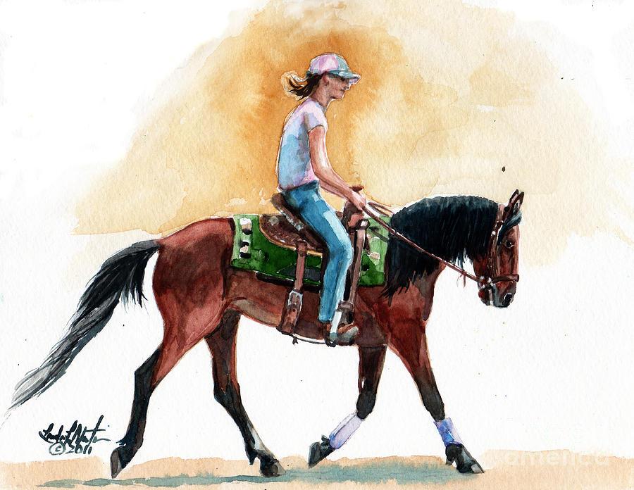 Wild Horse Painting - Versatility by Linda L Martin