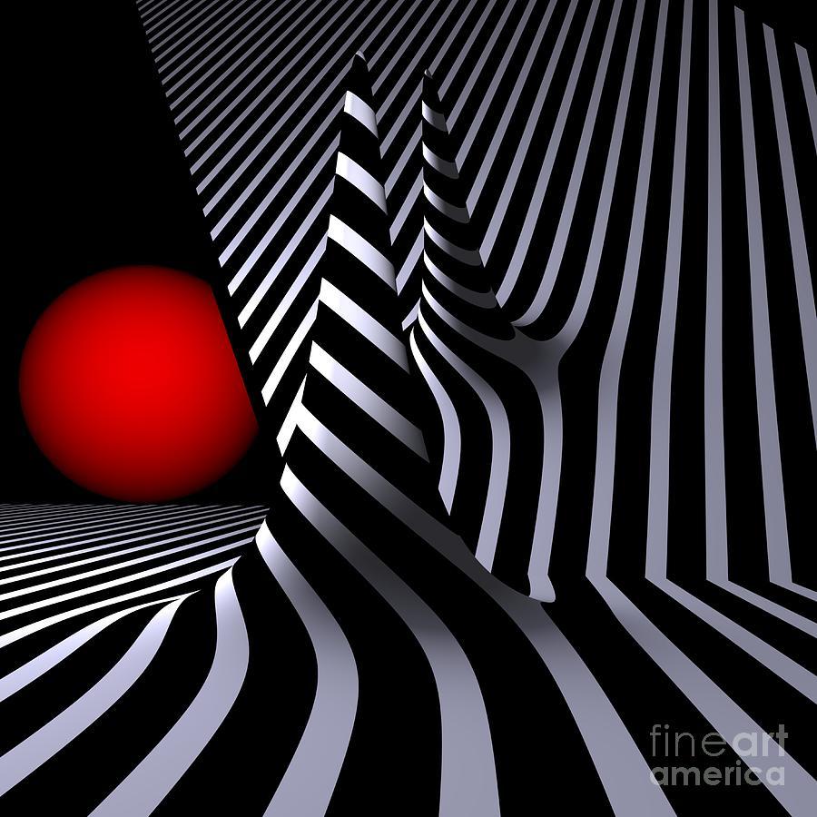 Reflexion Digital Art - Versiera Opart by Issabild -