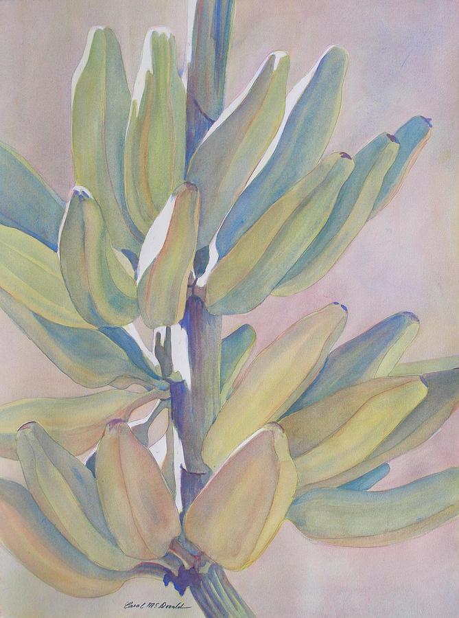 Bananas Painting - Vertical Banana Bunch by Carol McDonald