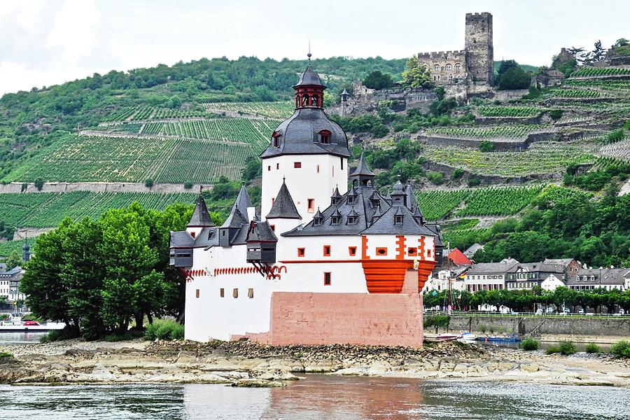 Rhine River Photograph - Vertical Vineyards and Buildings on the Rhine by Kirsten Giving