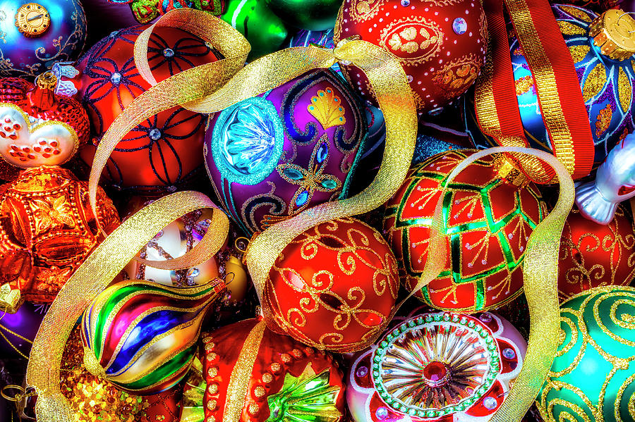 christmas photograph very special christmas ornaments by garry gay