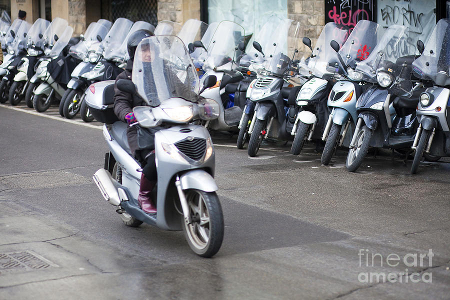 Ancient Photograph - Vespa In Florence by Andre Goncalves