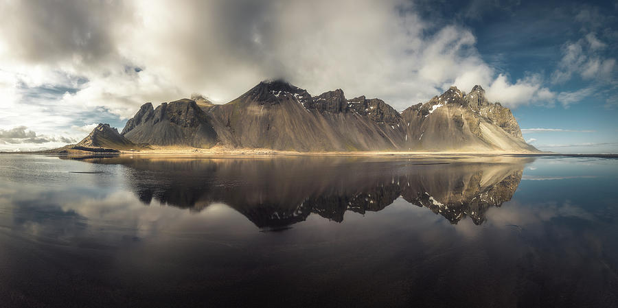 Stokksnes Photograph - Vestrahorn Panorama by Tor-Ivar Naess