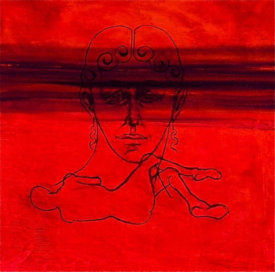 Portrait Painting - Vesuvius Victim by Chris  Riley