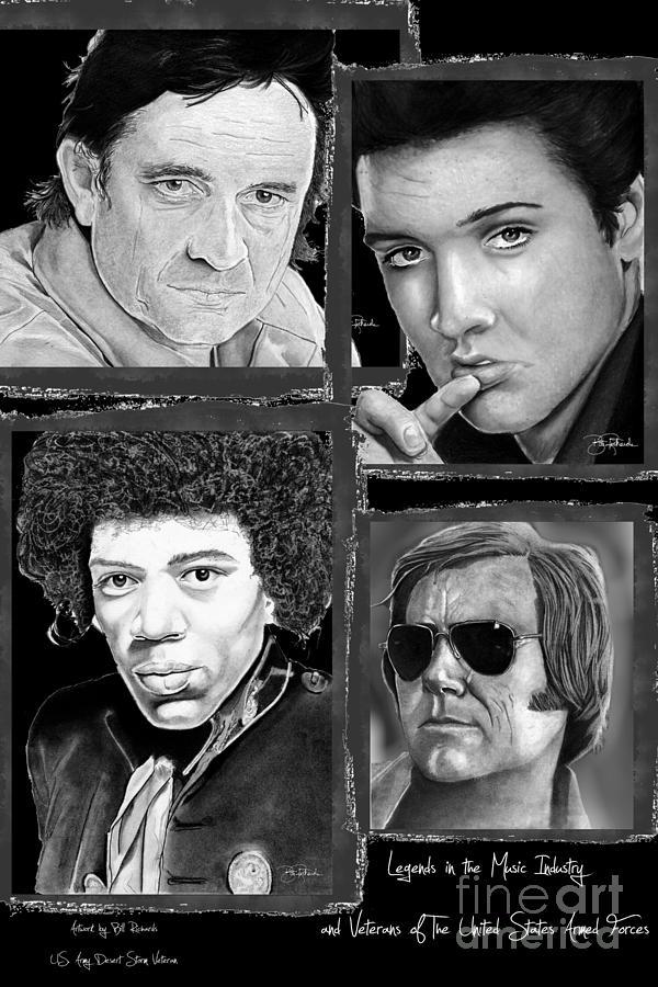 National Drawing - Veteran Musicians by Bill Richards
