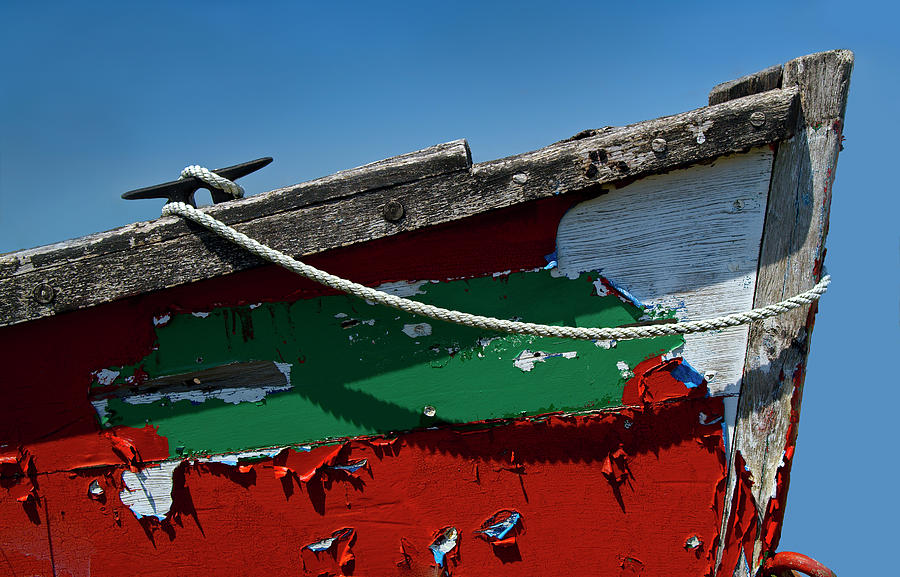 Abstract Photograph - Veteran Rowboat by Murray Bloom