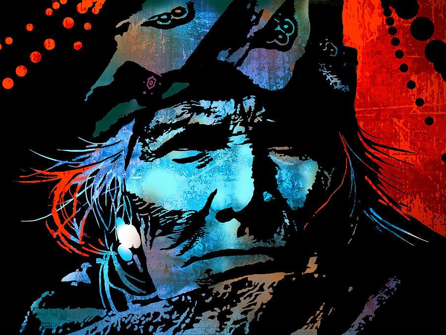 Native Americans Painting - Veteran Warrior by Paul Sachtleben