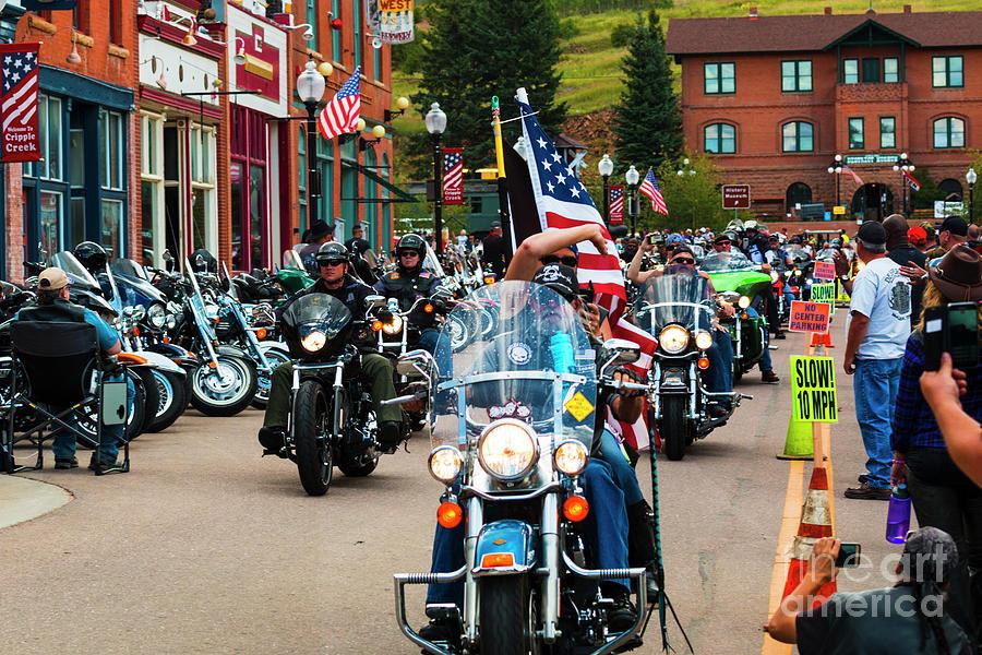 Veterans Freedom Riders In Cripple Creek Photograph