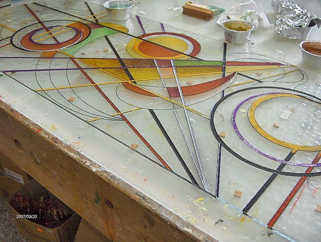 Paintings Glass Art - Vetrata In Lavorazione by Morena Di Pressa