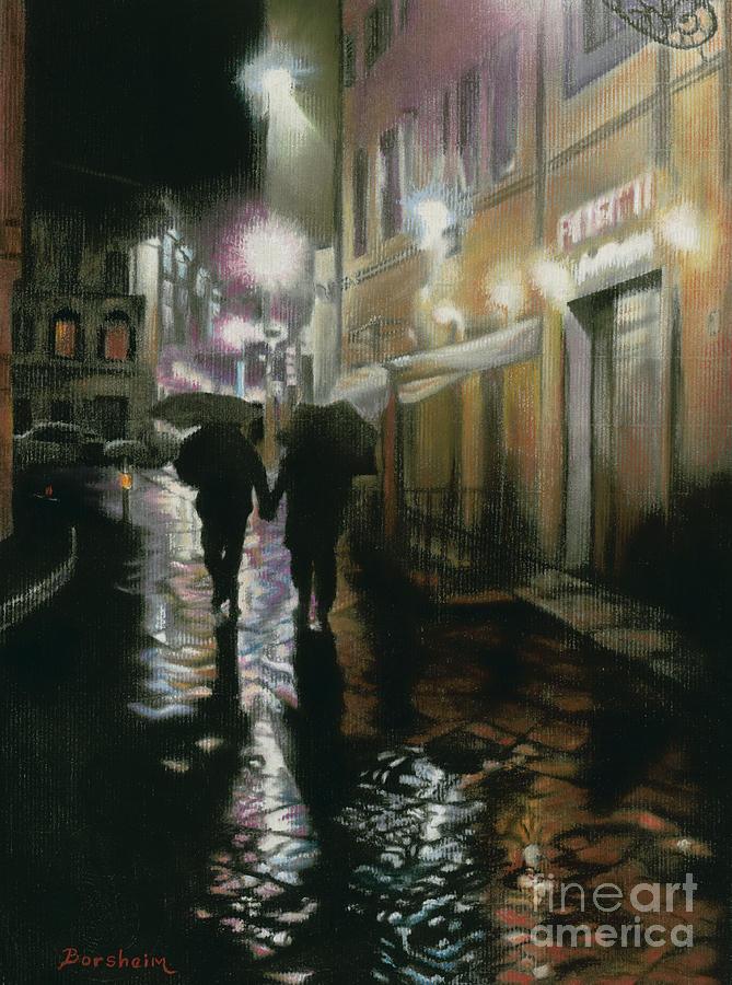 Rain Pastel - Via Della Spada - Firenze, Italia by Kelly Borsheim