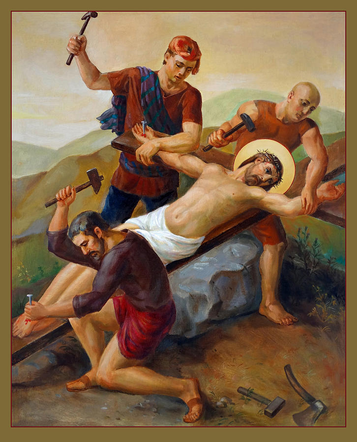 Via Dolorosa - Jesus Is Nailed To The Cross - 11 by Svitozar Nenyuk