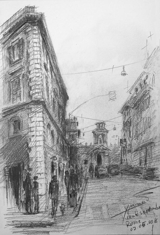 Rome Painting - Via Venti Settembre Rome by Ylli Haruni